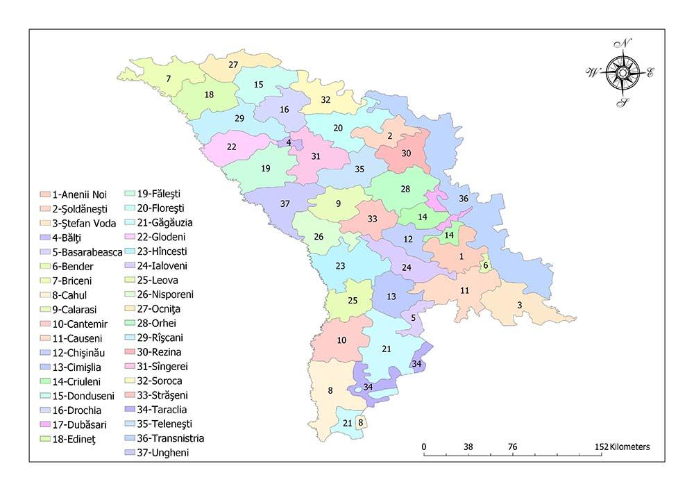 Administrative Divisions of Moldova