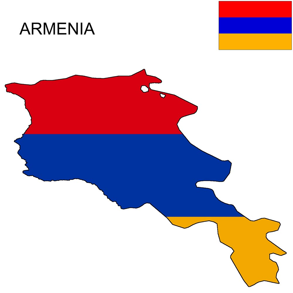 Armenia Flag Map