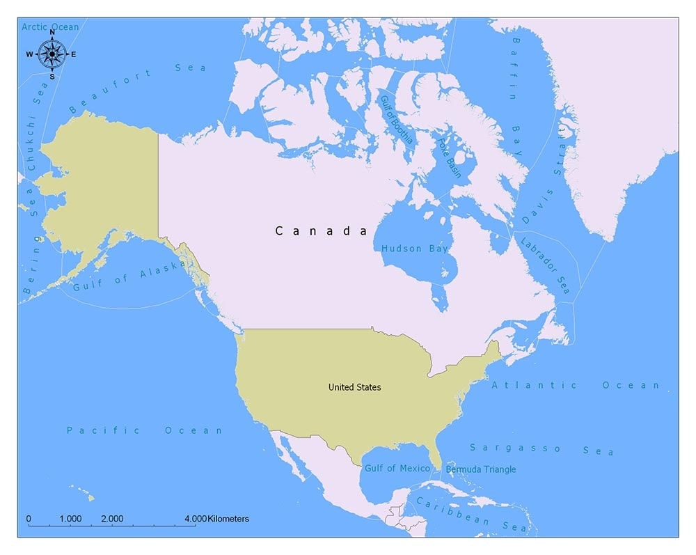 Neighboring Countries of Canada