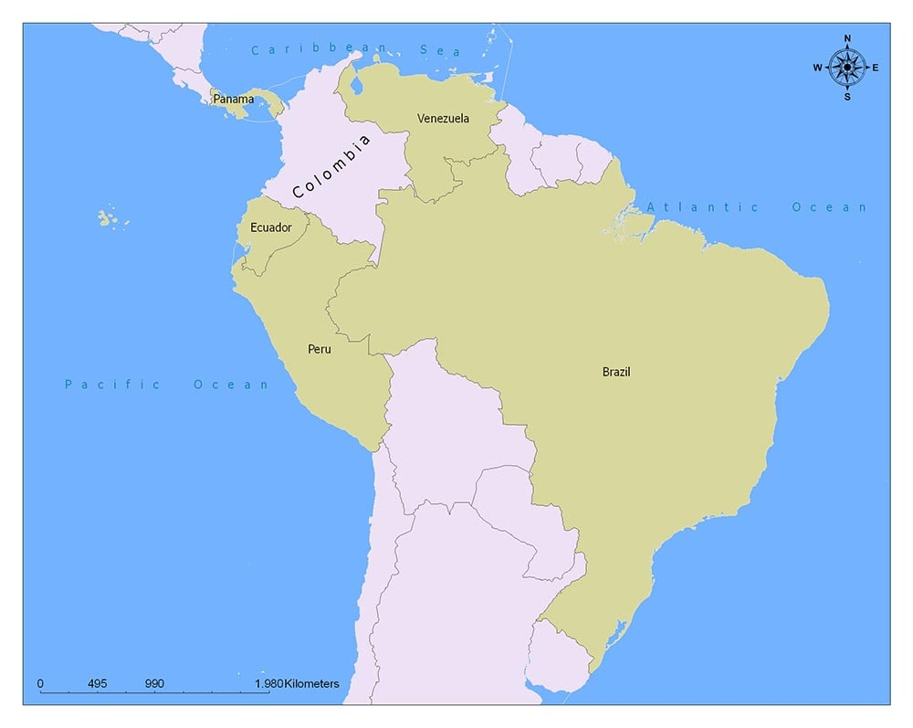 Neighboring Countries of Colombia