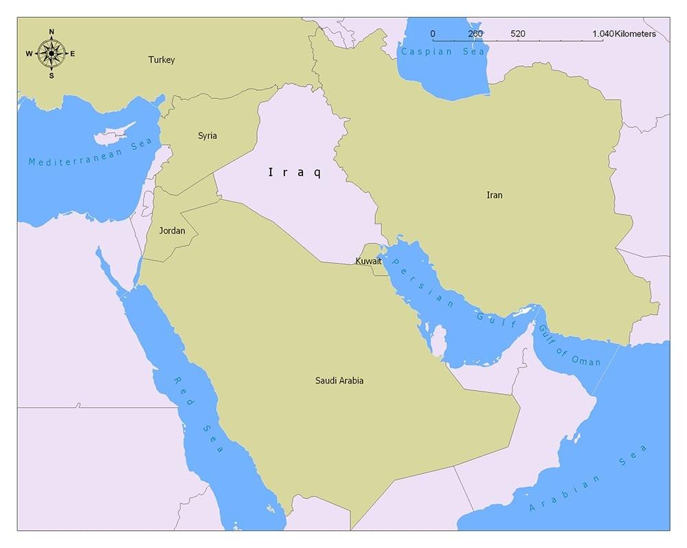 Neighboring Countries of Iraq