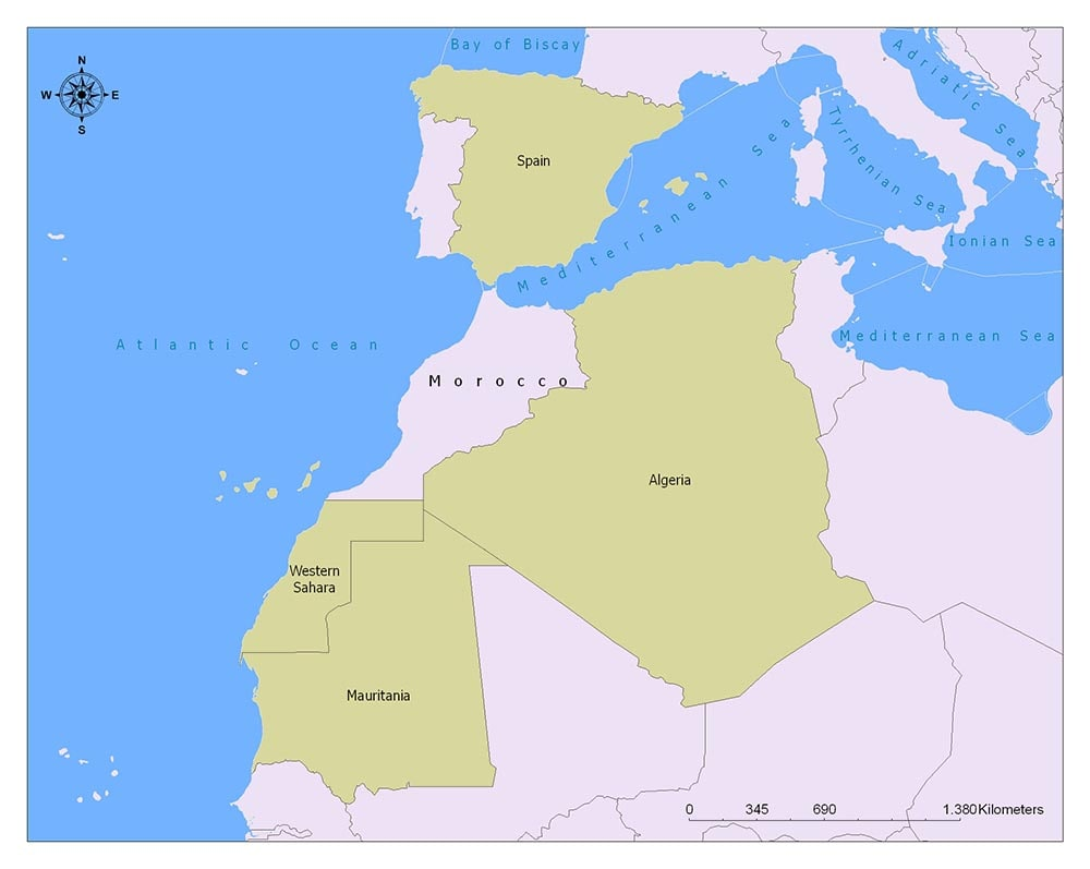 Neighboring Countries of Morocco