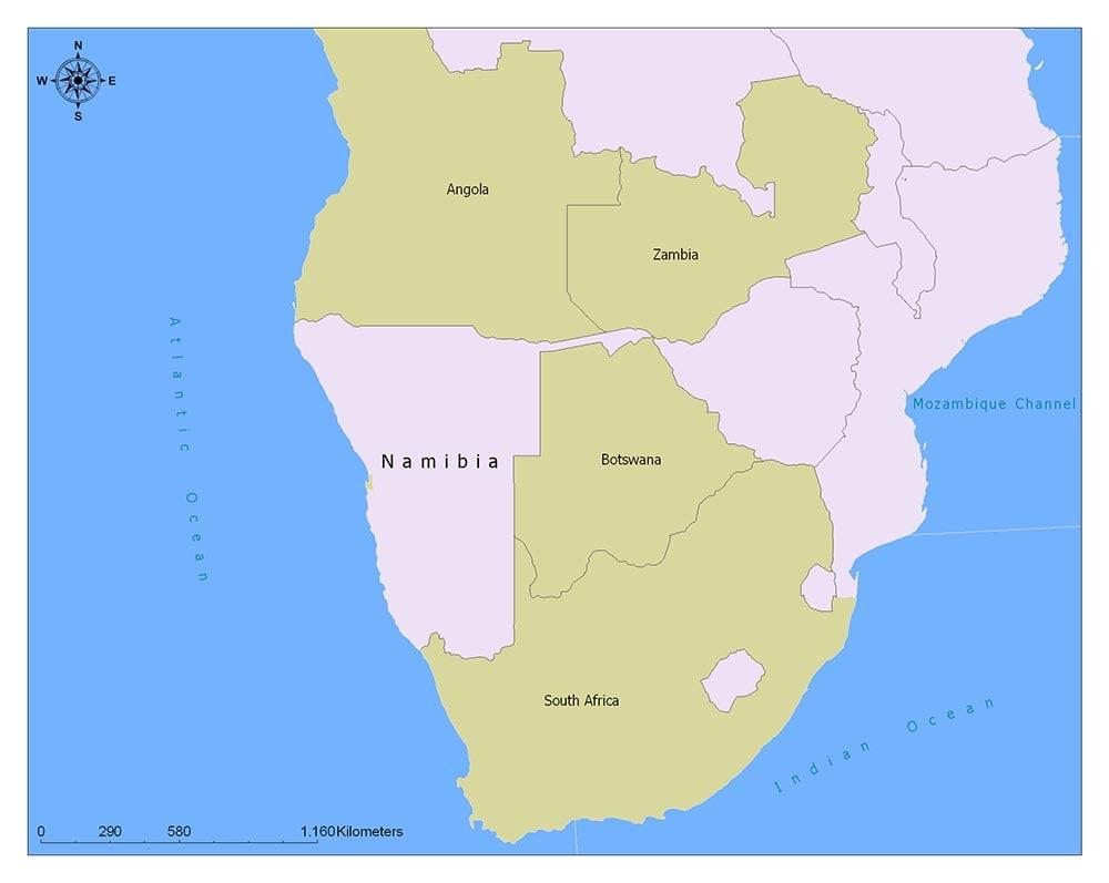 Neighboring Countries of Namibia