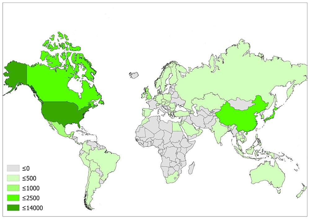 Number of Starbucks Stores Worldwide