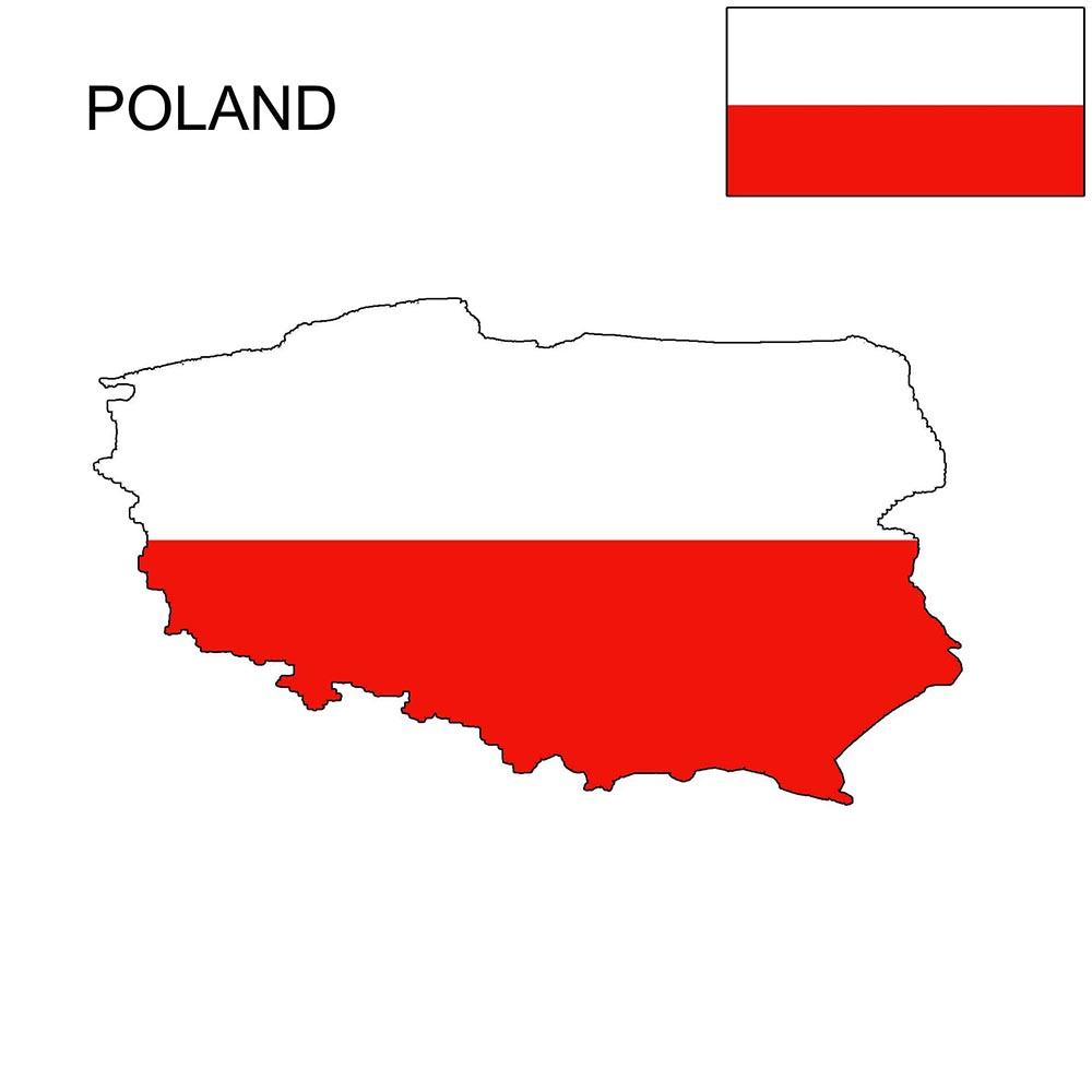 Poland Flag Map