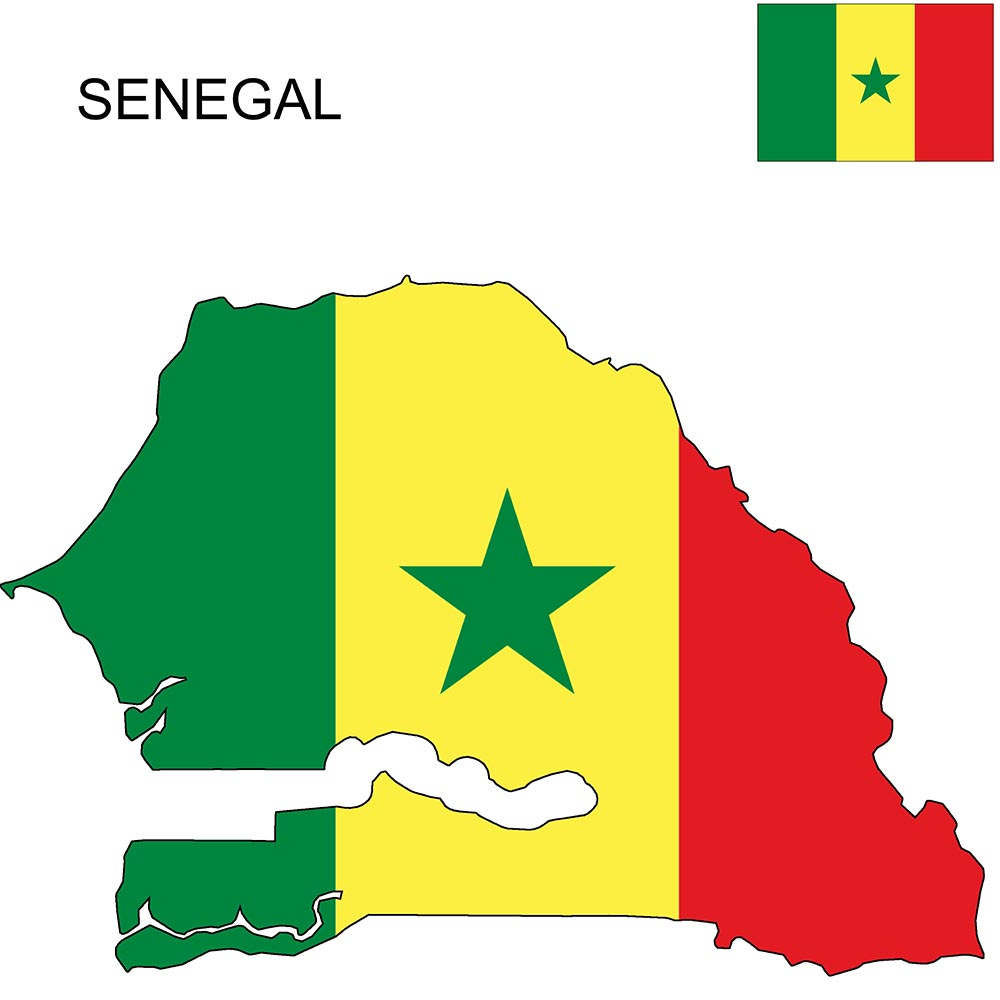 Senegal Flag Map