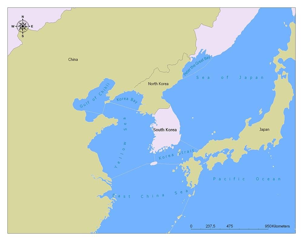 Neighboring Countries of South Korea