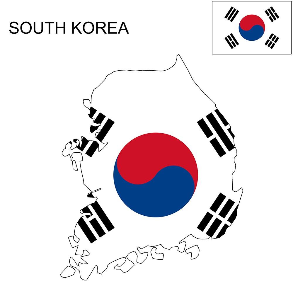 South Korea Flag Map