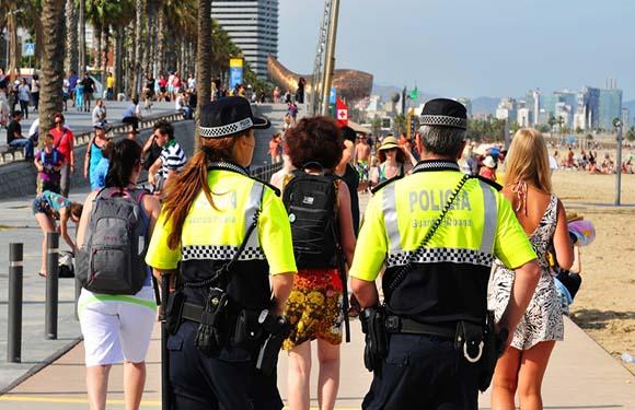 cops in spain