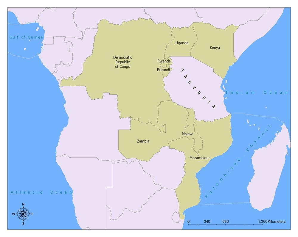 Neighboring Countries of Tanzania
