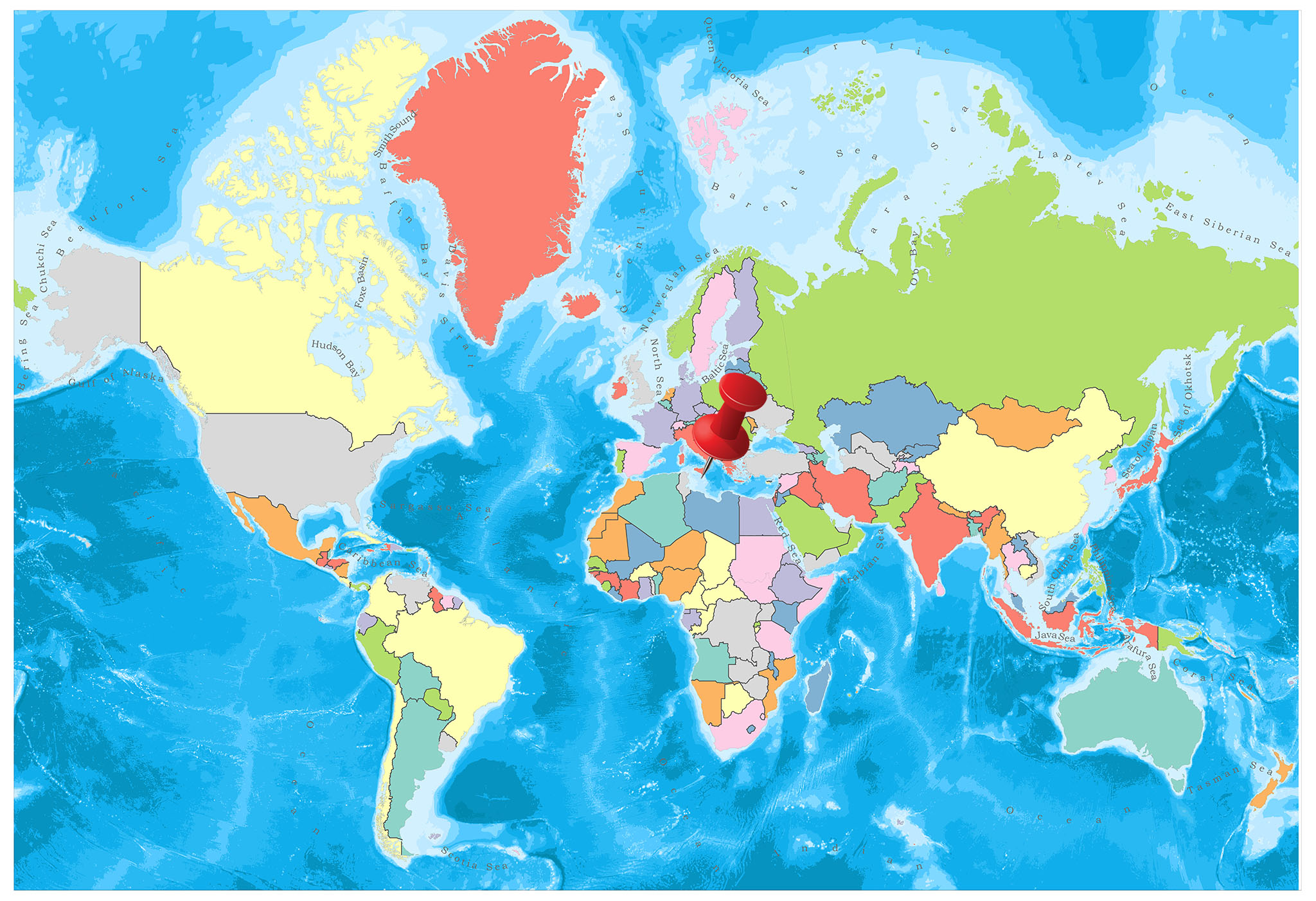 Malta on the world map
