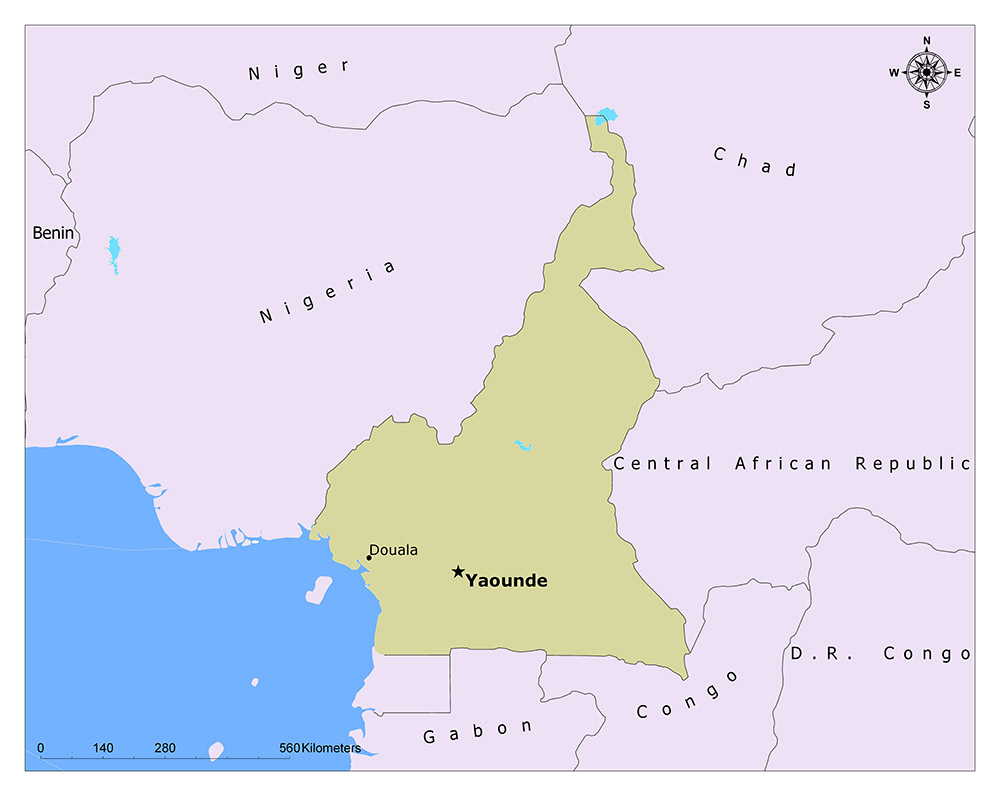 Where is Yaounde Map