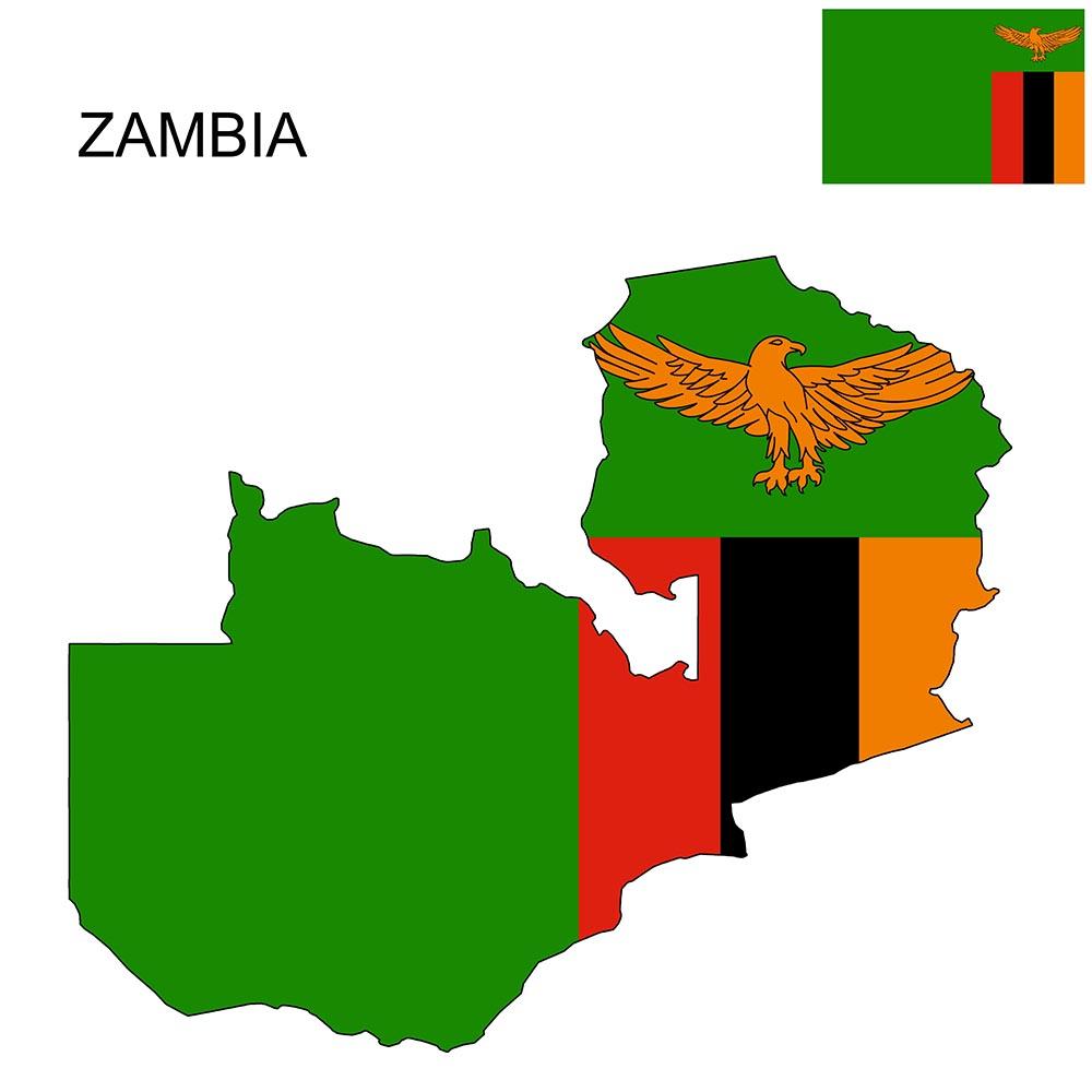 Zambia Flag Map