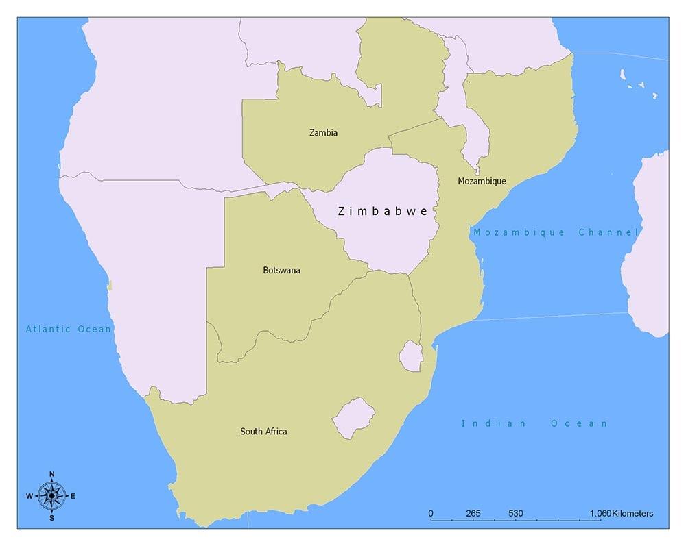 Neighboring Countries of Zimbabwe